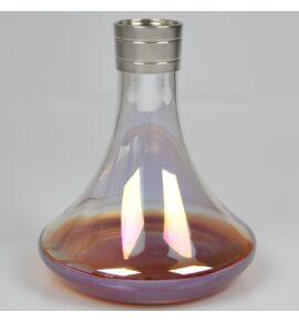 Aladin MVP 360 vízipipa üveg - piros-átlátszó