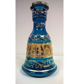 El Nefes Bohemian Yunan vízipipa üveg - türkiz