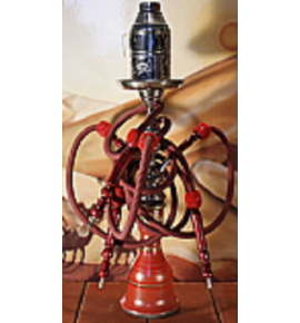Top Mark vízipipa - 71 cm - 3 csõvel - piros