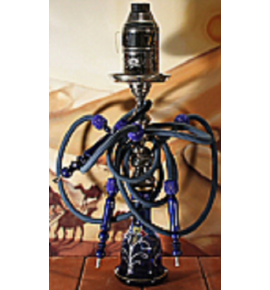 Top Mark vízipipa - 71 cm - 3 csõvel - kék