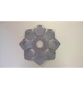 Sultan Alumínium vízipipatálca - ezüst