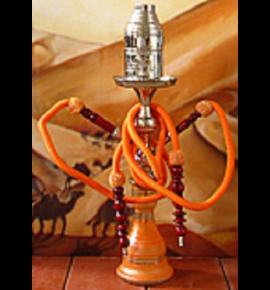 Top Mark vízipipa - 55 cm - 2 csõvel - narancssárga