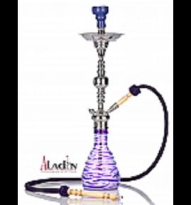 Aladin Zebra vízipipa - 75 cm - lila