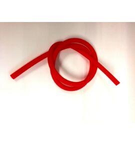 Hookah Flame matt szilikon szívócső - piros