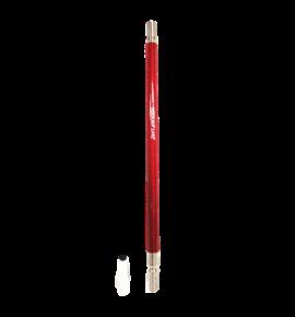 Hookah Flame alumínium szívóvég Carbon + konnector szett - piros