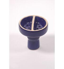 Vízipipa kerámia dohánytölcsér - osztott - kék