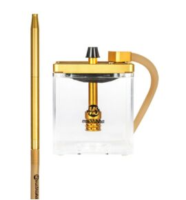 MS Micro vízipipa arany-átlátszó