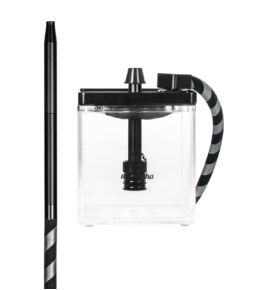 MS Micro vízipipa fekete-átlátszó