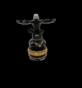 Tahta Mini Beast vízipipa Shiraz üveggel - fekete