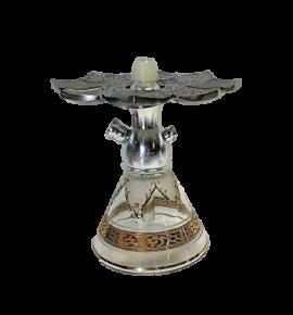 Tahta Mini Beast vízipipa Aswad üveggel - átlátszó