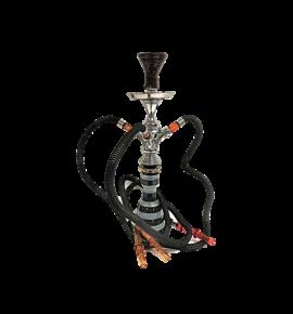 Top Mark vízipipa - 55 cm - 3 csővel - fekete