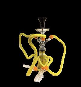 Top Mark vízipipa - 55 cm - 3 csővel - citromsárga
