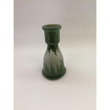 Top Mark vízipipa üveg - S - zöld mintás