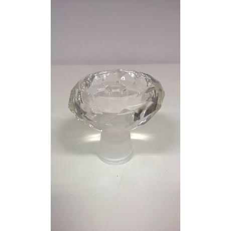 Diamond üveg dohánytölcsér - kristály