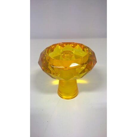 Diamond üveg dohánytölcsér - borostyán