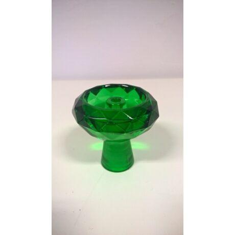 Diamond üveg dohánytölcsér - smaragd