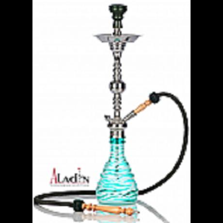 Aladin Zebra vízipipa - 75 cm - türkiz