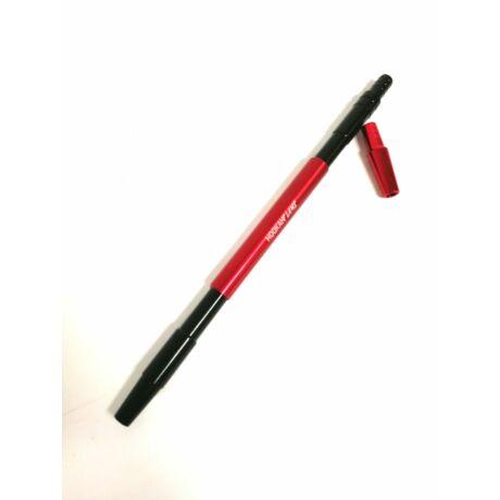 Hookah Flame alumínium szívóvég Arrow + konnector szett - piros