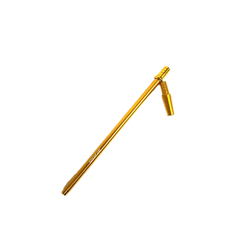 Hookah Flame alumínium szívóvég Slim + konnector szett - arany