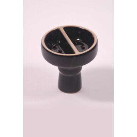 Kerámia dohánytölcsér - osztott - fekete