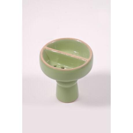 Vízipipa kerámia dohánytölcsér - osztott - zöld
