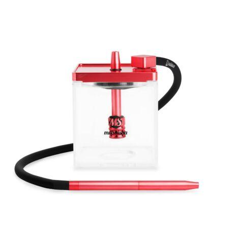 MS Micro vízipipa piros-átlátszó