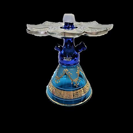 Tahta Mini Beast vízipipa Aswad üveggel - türkiz